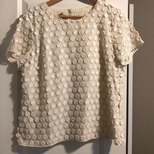 Lined Blouse with Polka Dot Detail